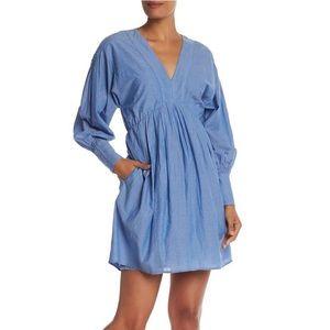 NWT Joie Robina V-Neck Blouson Sleeve Dress